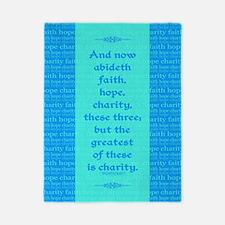 Faith Hope Charity Twin Duvet