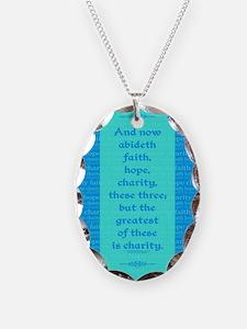 Faith Hope Charity Necklace