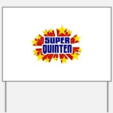 Quinten the Super Hero Yard Sign