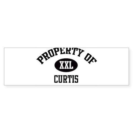 Property of Curtis Bumper Sticker