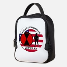 7th Infantry Division Neoprene Lunch Bag