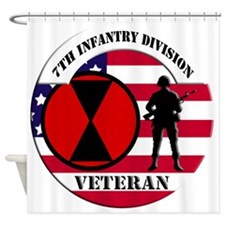 7th Infantry Division Shower Curtain