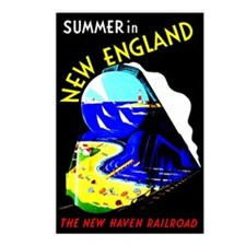 New England Train Travel Postcards (Package of 8)