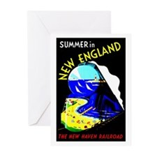 New England Train Travel Greeting Cards (Pk of 20)