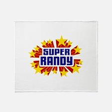 Randy the Super Hero Throw Blanket