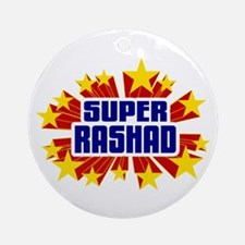 Rashad the Super Hero Ornament (Round)