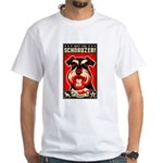 Obey the Schnauzer! 2-sided White T-Shirt