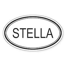 Stella Oval Design Oval Bumper Stickers