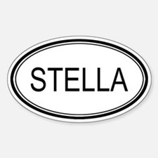 Stella Oval Design Oval Decal
