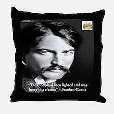 Stephen Crane Throw Pillow