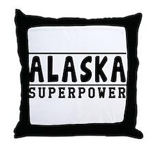 Alaska Superpower Designs Throw Pillow