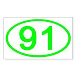 Number 91 Oval Rectangle Sticker