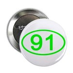 Number 91 Oval Button