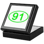 Number 91 Oval Keepsake Box