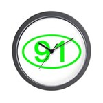 Number 91 Oval Wall Clock