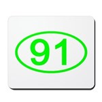 Number 91 Oval Mousepad