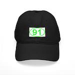 Number 91 Oval Black Cap