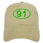 Number 91 Oval Cap