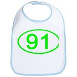 Number 91 Oval Bib
