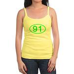 Number 91 Oval Jr. Spaghetti Tank