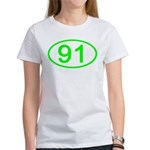 Number 91 Oval Women's T-Shirt