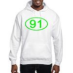 Number 91 Oval Hooded Sweatshirt