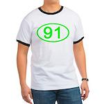 Number 91 Oval Ringer T