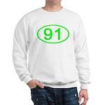 Number 91 Oval Sweatshirt