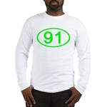 Number 91 Oval Long Sleeve T-Shirt