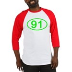 Number 91 Oval Baseball Jersey