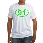 Number 91 Oval Fitted T-Shirt