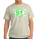 Number 91 Oval Ash Grey T-Shirt