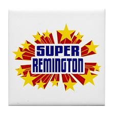 Remington the Super Hero Tile Coaster