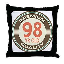 98th Birthday Vintage Throw Pillow