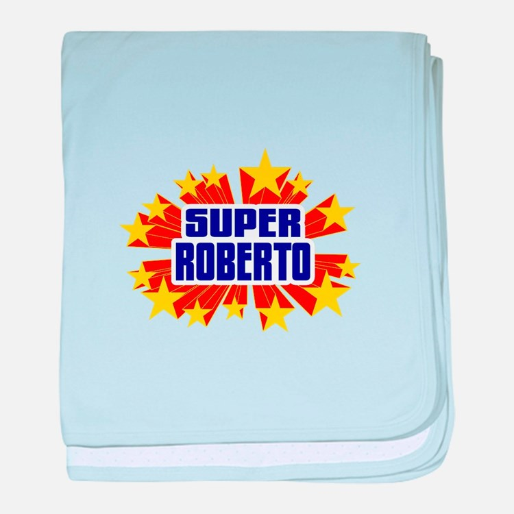 Roberto the Super Hero baby blanket