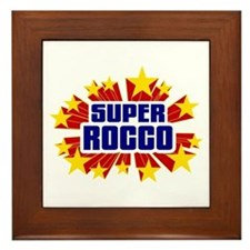 Rocco the Super Hero Framed Tile