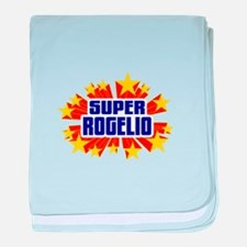 Rogelio the Super Hero baby blanket