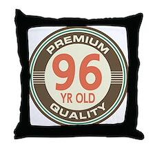 96th Birthday Vintage Throw Pillow