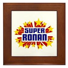 Ronan the Super Hero Framed Tile