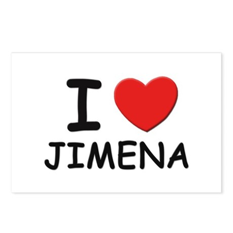 I love Jimena Postcards (Package of 8)