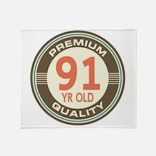 91st Birthday Vintage Throw Blanket