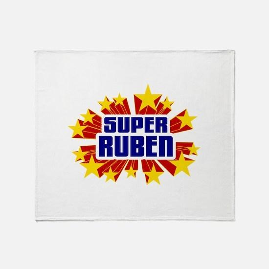 Ruben the Super Hero Throw Blanket