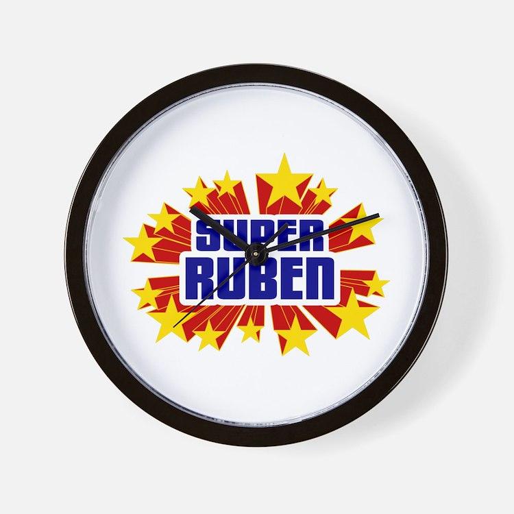 Ruben the Super Hero Wall Clock
