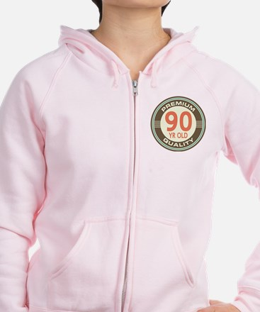 90th Birthday Vintage Zip Hoodie