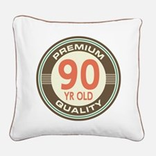 90th Birthday Vintage Square Canvas Pillow