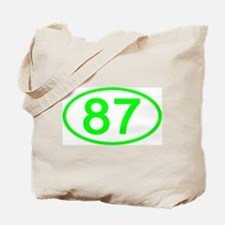 Number 87 Oval Tote Bag