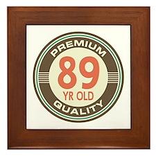 89th Birthday Vintage Framed Tile