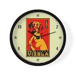 Obey the Vizsla! Wall Clock