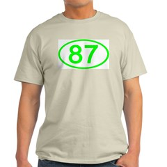 Number 87 Oval Ash Grey T-Shirt