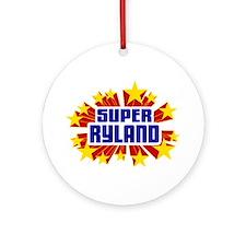 Ryland the Super Hero Ornament (Round)